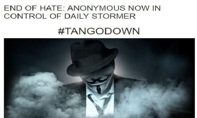 Anonymous презедоа контрола над неонацистички веб сајт во САД